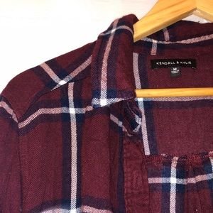 Kendall and Kylie maroon flannel